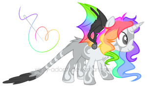 :|Custom|: Female Rainchrome - Twitter-light by Xanty-Adopts