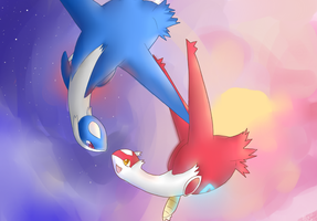 Latias and Latios by alexiakhodanian