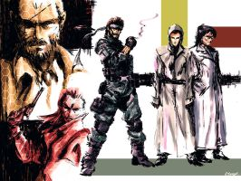 Metal Gear Solid 4 by ninjaink