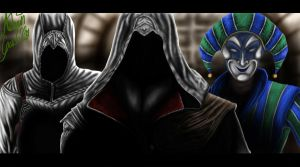 Altair Ezio and Harlequin by SWAVE18
