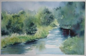 7. Quiet River and Woods by Masasasaki