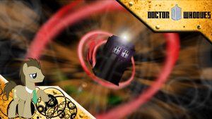 FiM: Doctor Whooves WP Red Vortex by M24Designs