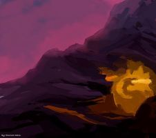 fire under the mountain by molcray