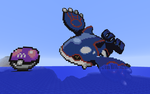 Minecraft Pixel Kyogre and Master Ball by RoseBlood-Wolf