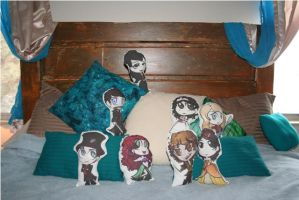 Once Upon a Time Chibi Plushie Pillow by KouranKiyo