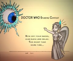 Doctor Who Staring Contest by Theta-Xi
