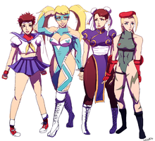street fighter girls by mizz-ninja