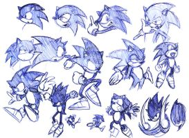 Sonic the Hedgehog Study by pyrogina
