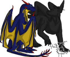 Contest Prize-Napther and Shadow by 768dragon