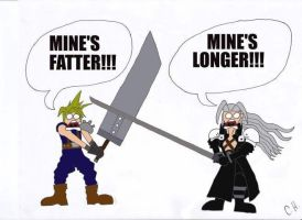 Cloud VS Sephiroth by Dr-Anime