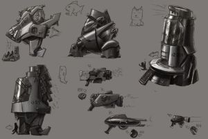 Origin Spaceship Sketches by F-A-W