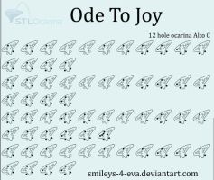 Ode To Joy 12 hole ocarina tablature by smileys-4-eva