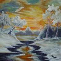 Winter (oil painting) by AlexandraDart