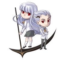 Chibi Regis and Seira by Ileranerak
