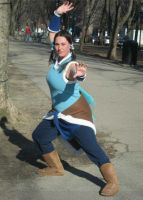 Korra Action Pose AB14 by PokemonMasta