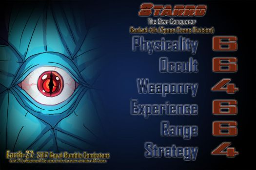 [Earth-27 Royal Rumble 2017 Stats] Starro by Roysovitch