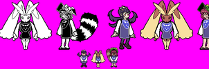 Rapa-Tale - Lopunny, Mamizou and Filia by Greasy-LucarioYun