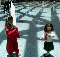 AX11-Baby Inuyasha and Kagome by moonymonster