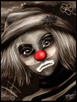 Sad clown by nene77
