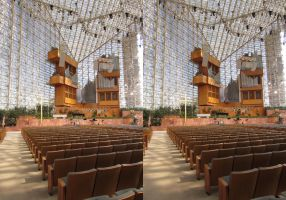 Stereograph - Crystal Cathedral Interior by alanbecker