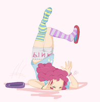 Pinkie Pie is clumsy by Purplepineapples123