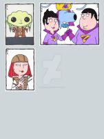 Family Guy Sketch Cards H by ElainePerna