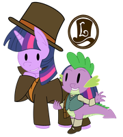 Professor Twilight and the Mare-stery Mask by DJNightmar3
