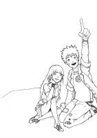NaruHina lineart by rainbowhamsters