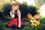 Serena and Fennekin by Reign-Cosplay