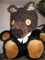 bear hat on stuffie by TinaTrineer