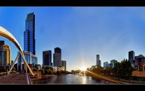 Southgate Footbridge Pano by WiDoWm4k3r
