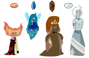 SU Elemental Adopts (SOLD) by SmilesUpsideDown