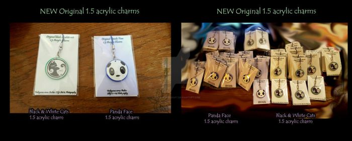 New Original Acrylic Charms by lilly-peacecraft