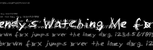 Slendy's Watching Me font by StrixAstrophel