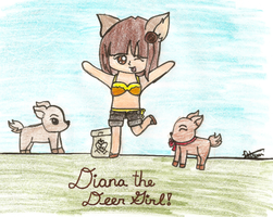 Diana the Deer Girl (My OC) by xOAVRILOx