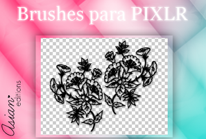 +BRUSHES PARA PIXLR  #1| Flowers by AsianEditions