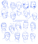 HOCKEY FACE STUDIES by Greatalmightyqueen