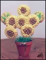 Sunflower Cookie Bouquet by megilwenn