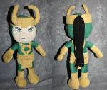 'Hulk vs. Thor' Loki plush by WampusDragon