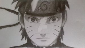 Naruto Sage Mode (Black and White) by chrisalbert