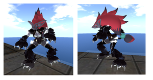 Sexy ZOROARK in Secondlife by namida2wind