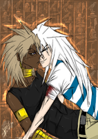 Marik and Bakura - Psychoshipp by Arev-San