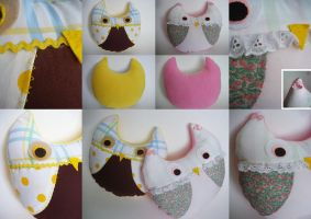 Owlie Pillows by l0rraine