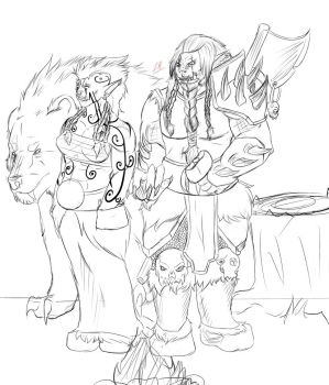 Rokora and a friend! Part 1 wip by Inquisitor-Rook