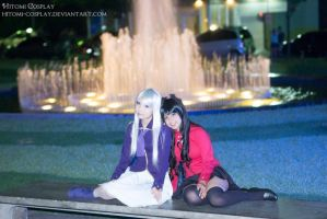 We could just lay around by Hitomi-Cosplay