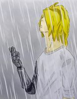 Edward Elric under the Rain by saturnion