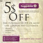 coupon of huggables by Vianto