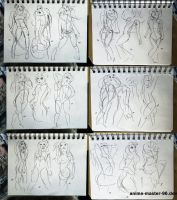 167 - 184  (1000 gesture drawing challenge) by anime-master-96