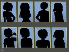 Can you guess my OC's by their shadows? by Rozala