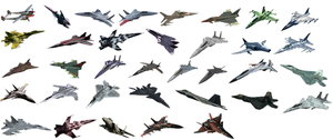 Ace Combat planes that are part of the SSU. by LooneyAces